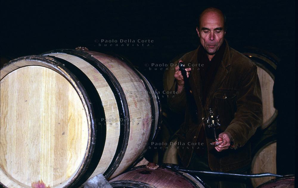 Francia Borgogna Il Conte Aubert de Vilain proprietario del pi&ugrave; costoso vitigno al mondo. il Roman&eacute;e Conti<br /> &copy; Paolo della Corte