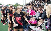AMSTELVEEN - Hanna Bergkamp (A'dam)  Inzameling met dans voor Nederlandse RETT Syndroom Vereniging .  competitie Hoofdklasse hockey dames   (2017-2018) .COPYRIGHT KOEN SUYK