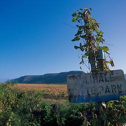 Polihale State Park Sign, Kauai, Hawaii, US