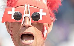 15.06.2016, Parc de Princes, Paris, FRA, UEFA Euro, Frankreich, Rumaenien vs Schweiz, Gruppe A, im Bild das Stadion spiegelt sich in der Sonnenbrille eines Schweizer Fans // the Stadium reflects in the Sunglases of a Fan of Switzerland during Group A match between Romania and Switzerland of the UEFA EURO 2016 France at the Parc de Princes in Paris, France on 2016/06/15. EXPA Pictures © 2016, PhotoCredit: EXPA/ JFK