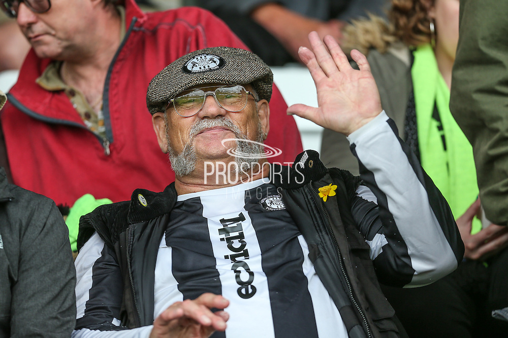 FGR supporter in the crowd during the Vanarama National League match between Forest Green Rovers and York City at the New Lawn, Forest Green, United Kingdom on 20 August 2016. Photo by Shane Healey.