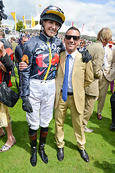 JEMIMA HANNON and FRANKIE DETTORI at the Qatar Goodwood Festival - Ladies Day held at Goodwood Racecourse, West Sussex on 30th July 2015.