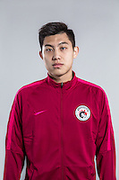 Portrait of Chinese soccer player Wang Hao of Liaoning Whowin F.C. for the 2017 Chinese Football Association Super League, in Foshan city, south China's Guangdong province, 24 January 2017.