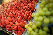 The Naschmarkt, Vienna's biggest market. Fresh strawberries.