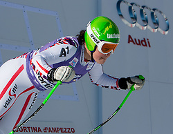 12.01.2012, Pista Olympia delle Tofane, Cortina, ITA, FIS Weltcup Ski Alpin, Damen, Abfahrt, 1. Training, im Bild Stefanie Moser (AUT) // Stefanie Moser of Austria during ladies downhill 1st training of FIS Ski Alpine World Cup at 'Pista Olympia delle Tofane' course in Cortina, Italy on 2012/01/12. EXPA Pictures © 2012, PhotoCredit: EXPA/ Johann Groder