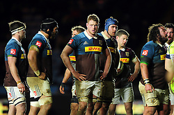 George Merrick of Harlequins looks on during a break in play - Mandatory byline: Patrick Khachfe/JMP - 07966 386802 - 03/02/2017 - RUGBY UNION - The Twickenham Stoop - London, England - Harlequins v Sale Sharks - Anglo-Welsh Cup.