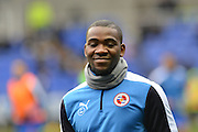 Reading FC striker Ola John during the warm up beforeSky Bet Championship match between Reading and Wolverhampton Wanderers at the Madejski Stadium, Reading, England on 6 February 2016. Photo by Mark Davies.