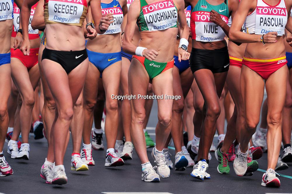 The ambiance shot, AUGUST 31, 2011 - Athletics :The 13th IAAF World Championships in Athletics - Daegu 2011, Women's 20Km Walk Final during Start&Gole at the Gukchae-bosang Memorial Park, Daegu, South Korea. (Photo by Jun Tsukida/AFLO SPORT) [0003]