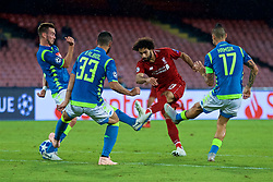 NAPLES, ITALY - Wednesday, October 3, 2018: Liverpool's Mohamed Salah during the UEFA Champions League Group C match between S.S.C. Napoli and Liverpool FC at Stadio San Paolo. (Pic by David Rawcliffe/Propaganda)