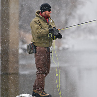 winter fly fisherman