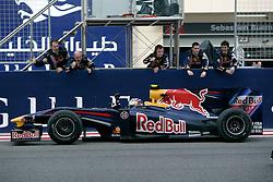 SAKHIR, BAHRAIN - Sunday, April 26, 2009: Sebastian Vettel (GER, Red Bull Racing) and his team celebrate during the Bahrain Grand Prix at the Bahrain International Circuit. (Pic by Michael Kunkel/Hoch Zwei/Propaganda)