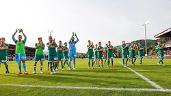 31.05.2015, Stadion Wolfsberg, Wolfsberg, AUT, 1. FBL, RZ Pellets WAC vs SK Rapid Wien, 35. Runde, im Bild v.l. den Jubel der Spieler von Rapid Wien // during the Austrian Football Bundesliga 35th Round match between RZ Pellets WAC and SK Rapid Vienna at the Stadium Wolfsberg in Wolfsberg Austria on 2015/05/31, EXPA Pictures © 2015, PhotoCredit: EXPA/ Wolfgang Jannach