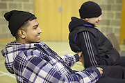 Aston-Mansfield YAG music session, helping young people reach their potential in the deprived London borough of Newham, London.