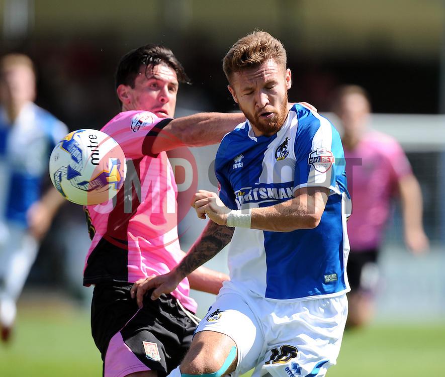 Matt Taylor of Bristol Rovers is fouled by David Buchanan of Northampton Town  - Mandatory byline: Joe Meredith/JMP - 07966386802 - 08/08/2015 - FOOTBALL - Memorial Stadium -Bristol,England - Bristol Rovers v Northampton Town - Sky Bet League Two