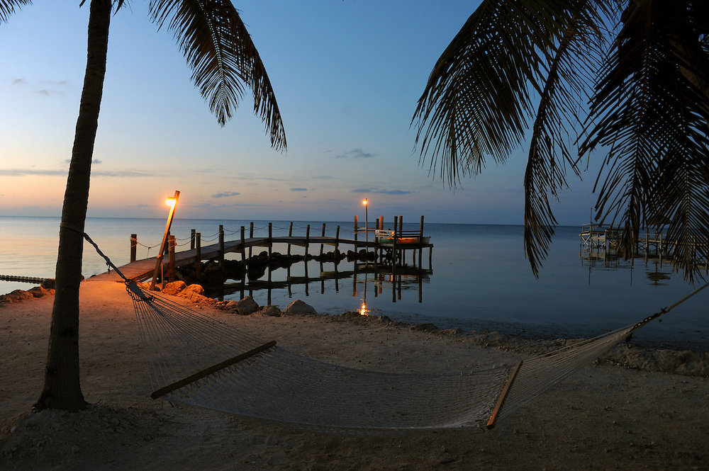 Sonnenaufgang vor White Sands Inn. Grassy Key..Florida 2009..Foto © Stefan Falke.