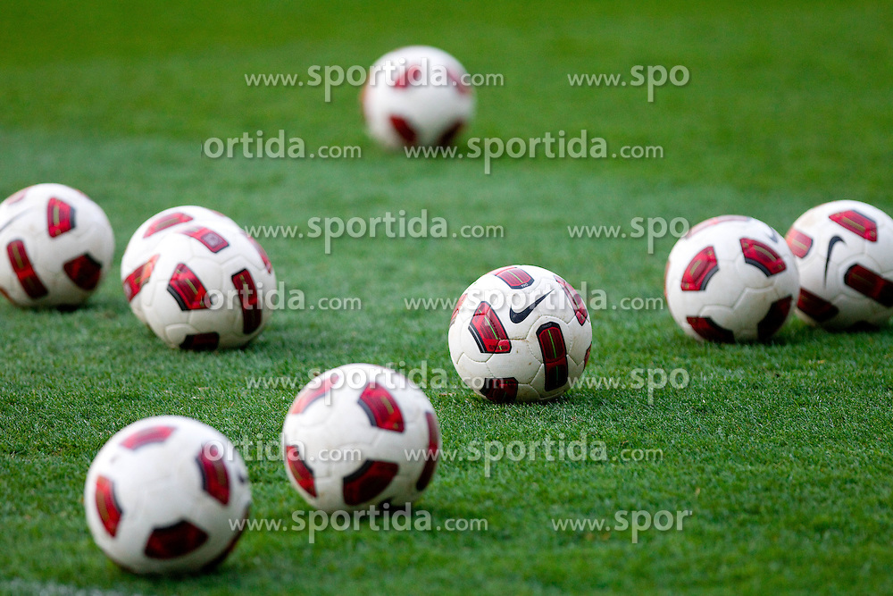 Balls at practice session of National team of Slovenia 1 day before EURO 2012 Qualifications match against Italy, on March 24, 2011, SRC Stozice, Ljubljana, Slovenia. (Photo by Vid Ponikvar / Sportida)