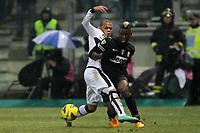 """Paul Pogba Juventus Jonathan Biabiany Parma.Parma 13/01/2013 Stadio """"Tardini"""".Football Calcio Serie A 2012/13.Parma v Juventus.Foto Insidefoto Paolo Nucci."""