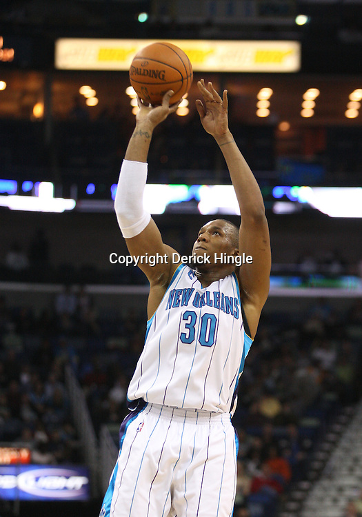 Feb 01, 2010; New Orleans, LA, USA; New Orleans Hornets forward David West (30) shoots against the Phoenix Suns during the second half at the New Orleans Arena. Mandatory Credit: Derick E. Hingle-US PRESSWIRE