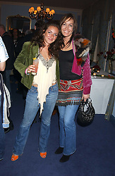 Left to right, MISS NATASHA CORRETT daughter of interior designer Kelly Hoppen and MISS TARA PALMER-TOMKINSON at a party to celebrate the launch of Dkkor Records at Kettners, Romilly Street, Soho, London on 31st March 2005.<br />