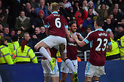 Burnley celebrate goal scored by Burnley FC defender Michael Keane (5)  to go 1-1  during the Premier League match between Hull City and Burnley at the KCOM Stadium, Kingston upon Hull, England on 25 February 2017. Photo by Ian Lyall.