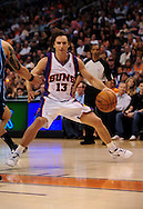 Mar. 19 2010; Phoenix, AZ, USA; Phoenix Suns guard Steve Nash (13) dribbles the ball in the first half at the US Airways Center. Mandatory Credit: Jennifer Stewart-US PRESSWIRE.