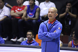 September 17, 2018 - Quezon City, NCR, Philippines - Yeng Guiao coaches on the sidelines for the Philippines during their game against Qatar. (Credit Image: © Dennis Jerome S. Acosta/Pacific Press via ZUMA Wire)