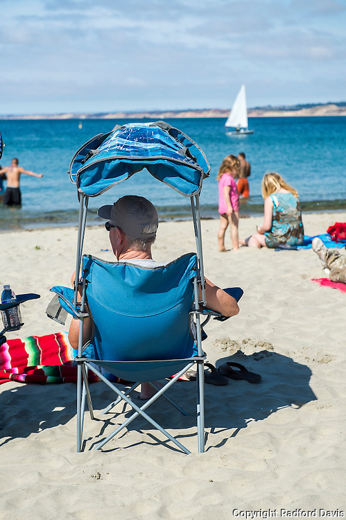 Life on the beach in Monterey, California.