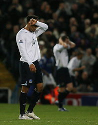 PORTSMOUTH, ENGLAND - SATURDAY, DECEMBER 9th, 2006: Joleon Lescott of Everton have a bad day against Portsmouth during the Premiership match at Fratton Park. (Pic by Chris Ratcliffe/Propaganda)