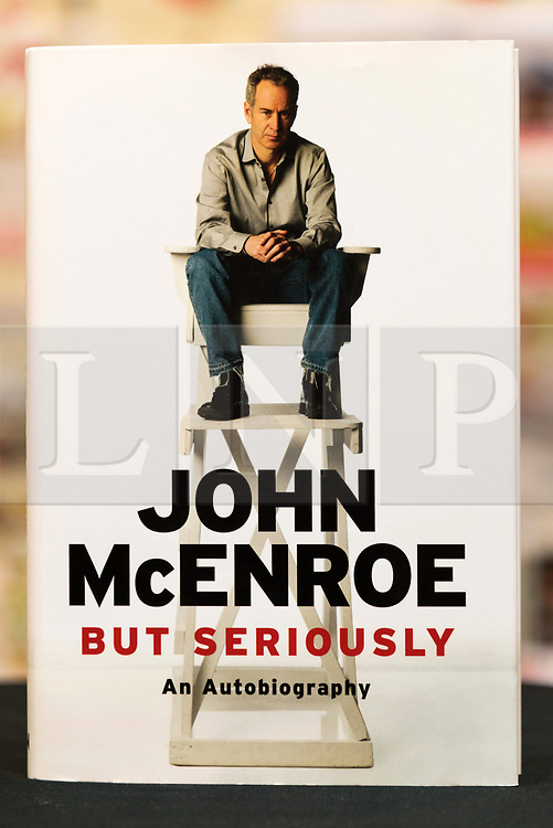 © Licensed to London News Pictures. 30/06/2017. London, UK. John McEnroe 'But Seriously' autobiography book at Waterstone's book store Photo credit: Ray Tang/LNP