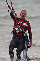 The Big Charity Downwinder with Kitesurfers travelling 40 miles along the South Coast of England from Hayling Island in Hampshire to Lancing in West Sussex on Sunday 15th September 2013. Organised by SnowCamp and raising money for this charity and the  Royal National Lifeboat Institution (RNLI)