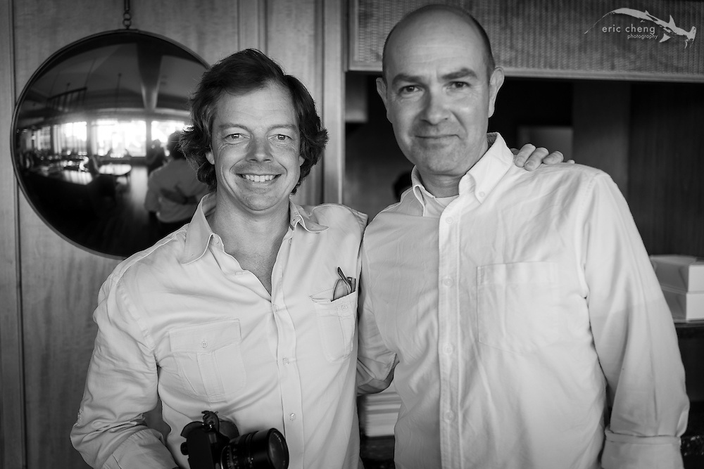 Chris Michel and Chris Anderson at the Four Seasons Market in San Francisco. September 19, 2013.