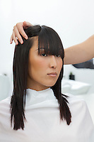 Asian woman at beauty salon