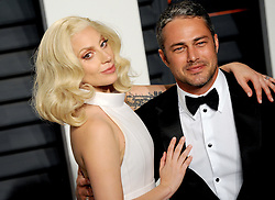 Lady Gaga, Taylor Kinney arrives at the 2016 Vanity Fair Oscar Party Hosted By Graydon Carter at Wallis Annenberg Center for the Performing Arts on February 28, 2016 in Beverly Hills, California. EXPA Pictures © 2016, PhotoCredit: EXPA/ Photoshot/ Dennis Van Tine<br />