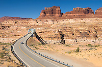 Hite Crossing Bridge (Utah State Route 95) spanning the Colorado River, Glen Canyon National Recreation Area Utah