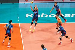 21-09-2019 NED: EC Volleyball 2019 Poland - Spain, Apeldoorn<br /> 1/8 final EC Volleyball / Team Spain, Angel Trinidad De Haro #2 of Spain