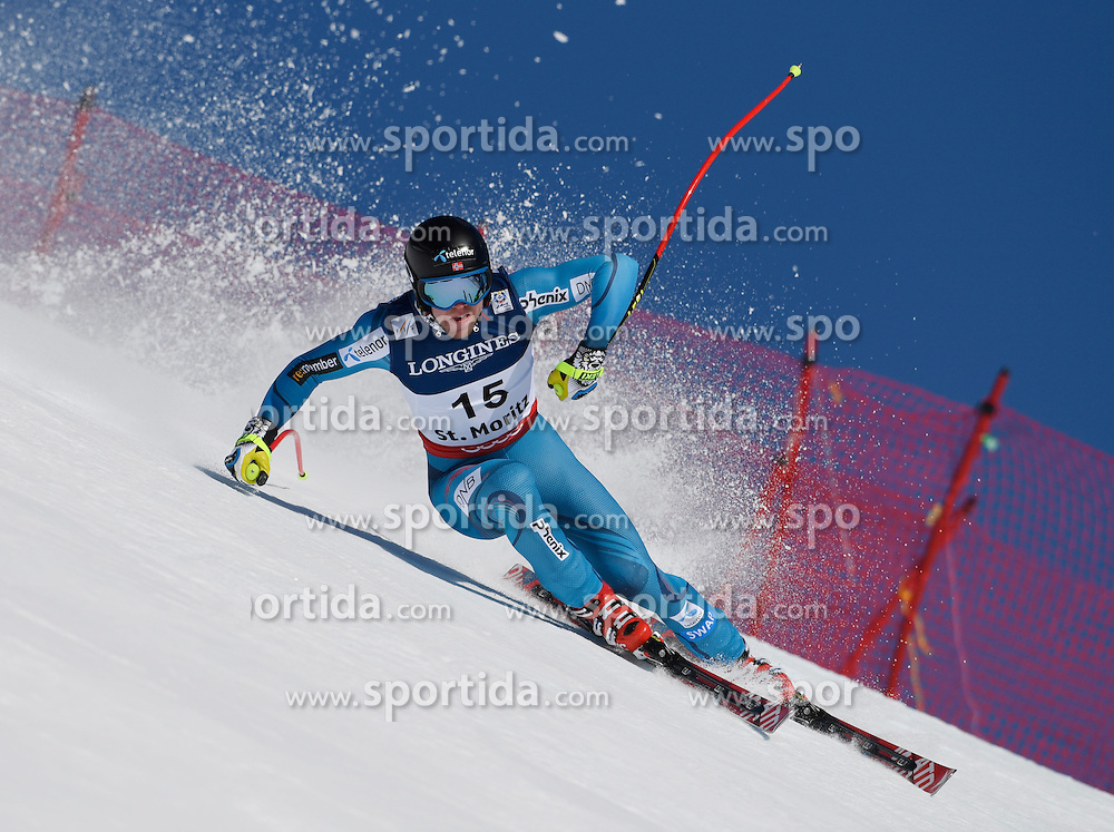 13.02.2017, St. Moritz, SUI, FIS Weltmeisterschaften Ski Alpin, St. Moritz 2017, alpine Kombination, Herren, Abfahrt, im Bild Aleksander Aamodt Kilde (NOR) // Aleksander Aamodt Kilde of Norway in action during his run of downhill for the men's Alpine combination of the FIS Ski World Championships 2017. St. Moritz, Switzerland on 2017/02/13. EXPA Pictures &copy; 2017, PhotoCredit: EXPA/ Sammy Minkoff<br /> <br /> *****ATTENTION - OUT of GER*****