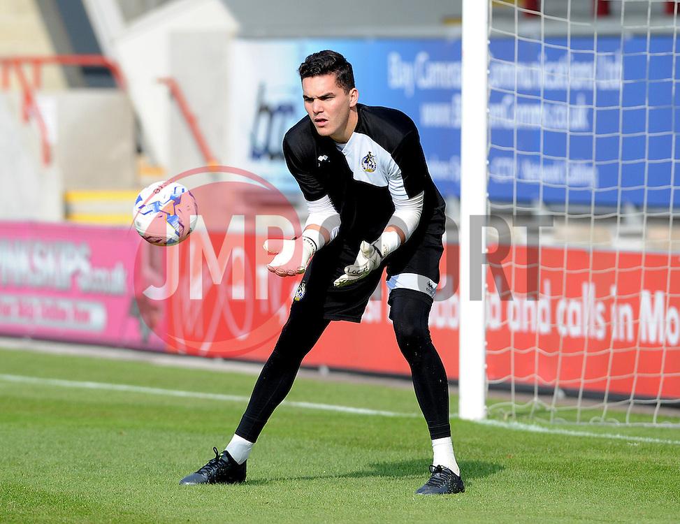 Lee Nicholls - Mandatory byline: Neil Brookman/JMP - 07966 386802 - 03/10/2015 - FOOTBALL - Globe Arena - Morecambe, England - Morecambe FC v Bristol Rovers - Sky Bet League Two