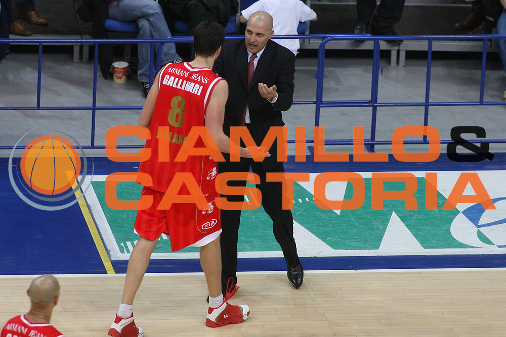 DESCRIZIONE : Bologna Lega A1 2006-07 Climamio Fortitudo Bologna Armani Jeans Milano <br /> GIOCATORE : Gallinari Djordjevic <br /> SQUADRA : Armani Jeans Milano <br /> EVENTO : Campionato Lega A1 2006-2007 <br /> GARA : Climamio Fortitudo Bologna Amani Jeans Milano <br /> DATA : 25/03/2007 <br /> CATEGORIA : Delusione <br /> SPORT : Pallacanestro <br /> AUTORE : Agenzia Ciamillo-Castoria/G.Ciamillo