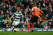 Celtic FC Forward Leigh Griffiths cutting in during the Ladbrokes Scottish Premiership match between Celtic and Dundee United at Celtic Park, Glasgow, Scotland on 25 October 2015. Photo by Craig McAllister.