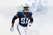 NASHVILLE, TN - NOVEMBER 29:  David Bass #51 of the Tennessee Titans runs onto the field before a game against the Oakland Raiders at Nissan Stadium on November 29, 2015 in Nashville, Tennessee.  The Raiders defeated the Titans 24-21.  (Photo by Wesley Hitt/Getty Images) *** Local Caption *** David Bass