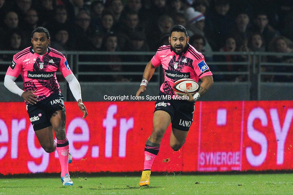 Krisnan Inu - 02.01.2015 - Lyon OU / Stade Francais - 15eme journee de Top 14 <br />Photo : Jean Paul Thomas / Icon Sport
