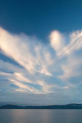 Clouds Above Boundary Pass, Stuart Island, Washington, US