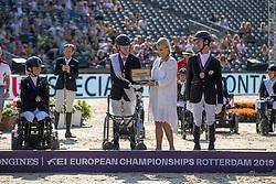 Dokkan Jens-Lasse, NOR, Morganti Sara, ITA, Snikus Richard, LAT<br /> European Championship Para Dressage<br /> Rotterdam 2019<br /> © Hippo Foto - Dirk Caremans