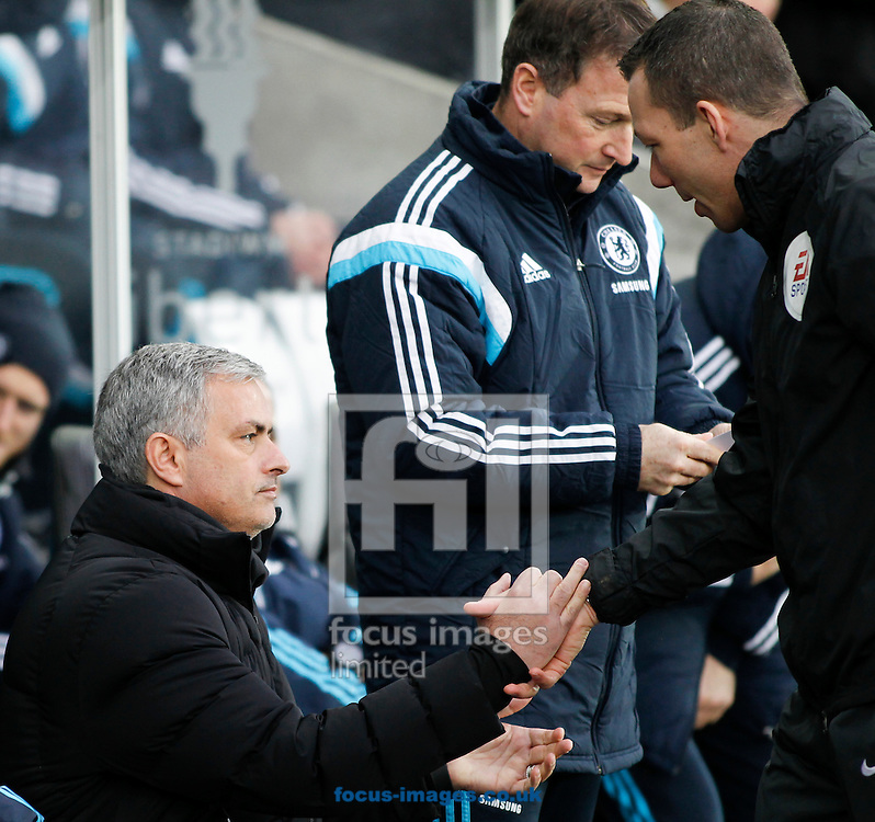 Jose Mourinho of Chelsea before the Barclays Premier League match at the Liberty Stadium, Swansea<br /> Picture by Mike Griffiths/Focus Images Ltd +44 7766 223933<br /> 17/01/2015