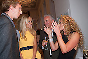 JAMES COOK; POPPY DELEVIGNE; JOHN GARDNER; KELLY HOPPEN, Cartier Tank Anglaise launch. Kensington Palace Orangery, London.  19 April 2012.