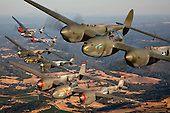 P-38 Lightning Gathering at California Capital Airshow - Sacramento, California