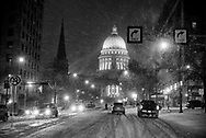 Cold temperatures moved back Monday, Jan. 15, 2018 in Madison, Wisconsin.
