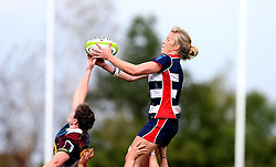 Claire Molloy of Bristol Ladies catches the ball from a line out - Mandatory by-line: Robbie Stephenson/JMP - 18/09/2016 - RUGBY - Cleve RFC - Bristol, England - Bristol Ladies Rugby v Aylesford Bulls Ladies - RFU Women's Premiership