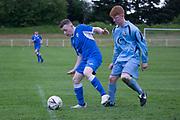 St.John's (royal blue) v Grove (light blue) - U16 Robert Caira Memorial Trophy Final  (sponsored by DSA at East Craigie