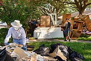 Eric Hollar, member at Memorial Lutheran Church, Katy, Texas, helps clear debris from a home damaged by Hurricane Harvey at a home near the church on Friday, Sept. 1, 2017, in Katy. LCMS Communications/Erik M. Lunsford